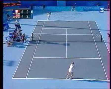 Mary Pierce Def. Venus Williams 2004 Athens Olympics