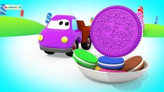 Учим цвета с разноцветной машинкой Максом и 3Д печенье Орео
