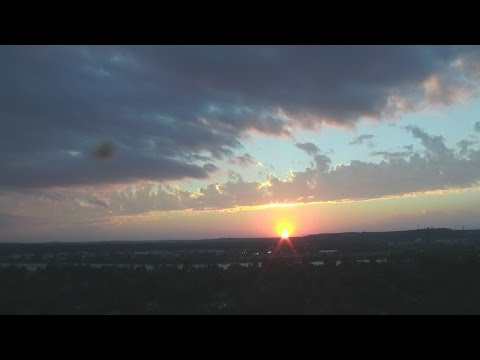 Breathtaking sunset over Tulsa before storms move in