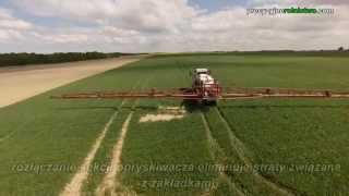 Rozłączanie sekcji opryskiwacza w Farm Frites Poland Dwa