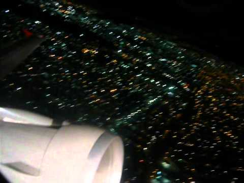 Despegue de ciudad de mexico df de noche avianca av23 for Puerta 6 aeropuerto ciudad mexico
