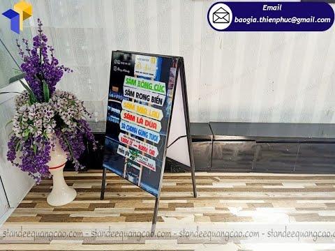 Thiết kế khung sắt standee A quảng cáo sinh động giá rẻ