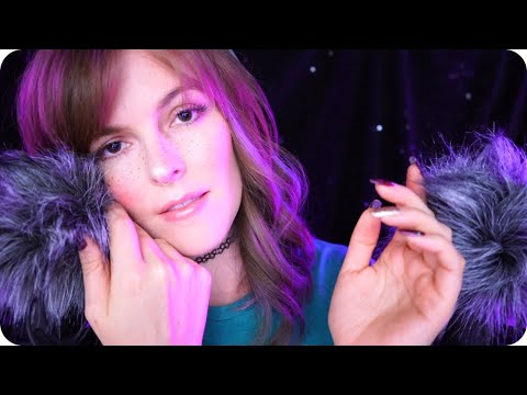 ASMR Fluffy Deep Ear Attention W/Positive Affirmations To Help You Sleep 💜