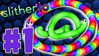 slither.io прохождение игры слизарио - слизерио самый большой червяк
