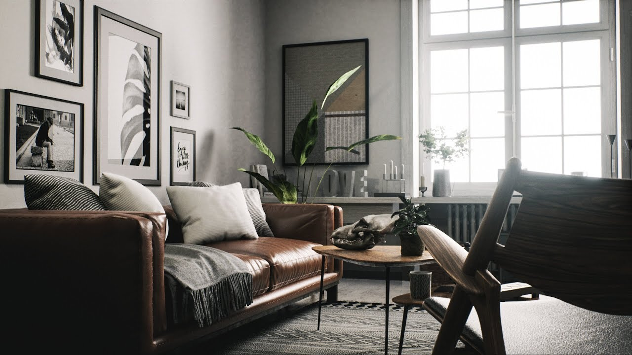 Scandinavian Interior Realtime Raytrace Render Unreal Engine 4 22 Youtube