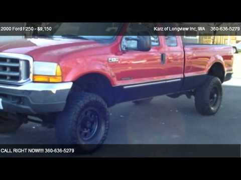2000 ford f250 quad cab 4x4 lifted for sale in longview wa 98632 youtube. Black Bedroom Furniture Sets. Home Design Ideas