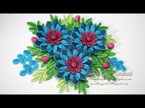 Quilling Flower V8 Tutorial   DIY Paper Flower Handmade Decoration