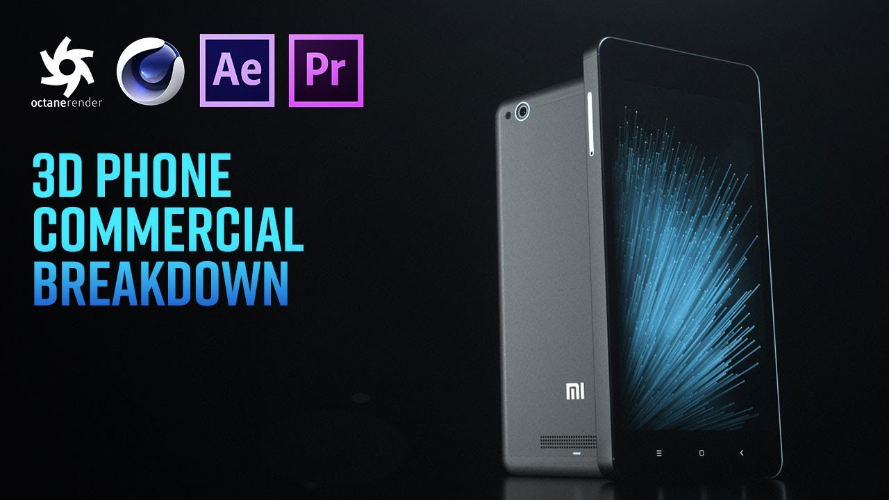 Cinema 4D Tutorial - Phone Commercial in Octane Render, Premiere Pro &  After Effects