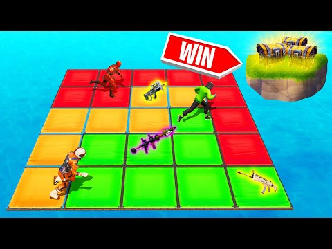 COLOR The MOST TILES To WIN LEGENDARY LOOT! (Fortnite Splatoon)