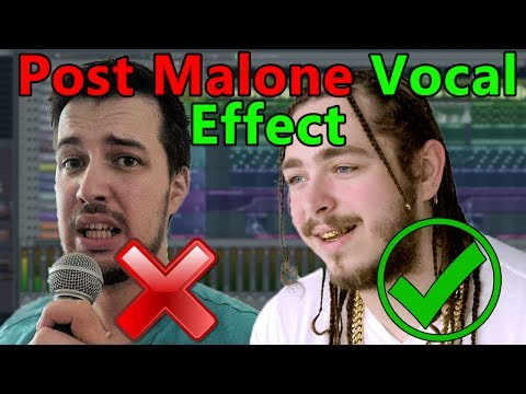 How to make VOCALS like Post Malone if you cant sing  FL Studio Tutorial