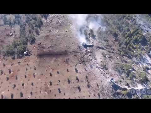 İşte Afrin operasyonundan kuşbakışı...