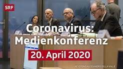 Medienkonferenz mit Fachexperten des Bundes - 20. April 2020 | SRF News
