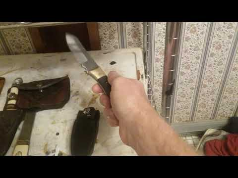 Vintage Western Knife Company Axe & Knife Custom Sheath Part 3