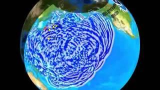 2011/03/11 Japan Sendai Tsunami Propagation 3D Simulation