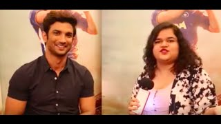 Sushant Singh Rajput Interview with Miss Malini for M.S. Dhoni The Untold Story