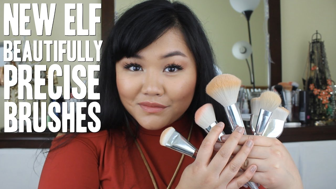 New Elf Beautifully Precise Brushes Review And Demos Youtube