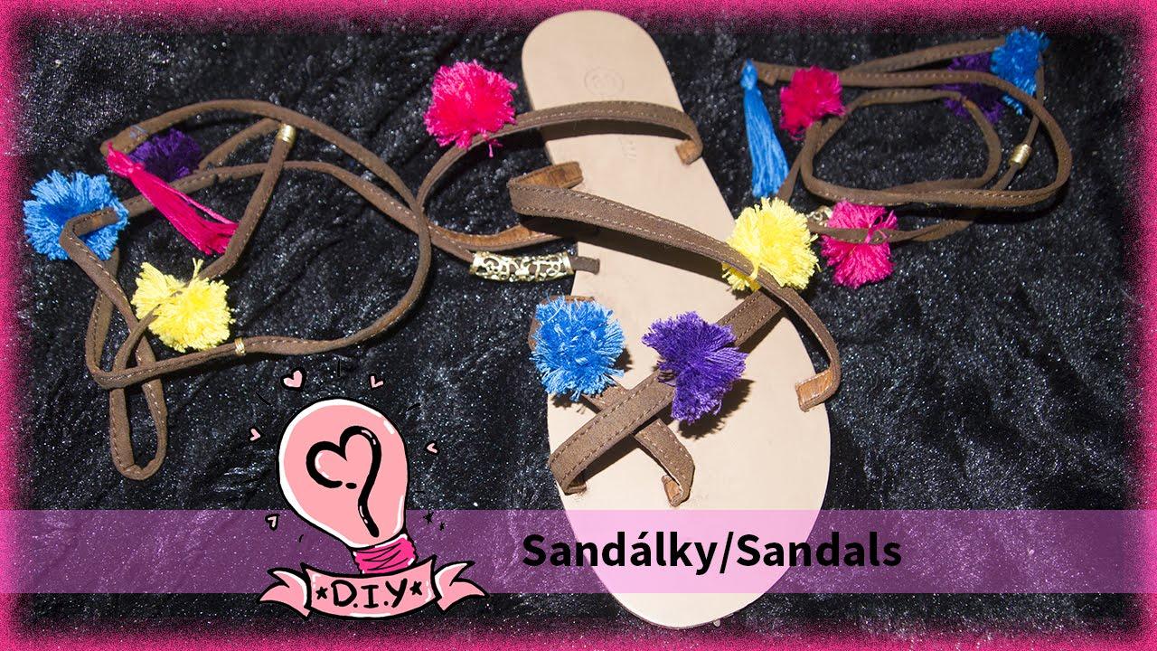 17101f251 DIY Farebne Sandalky!!! - YouTube