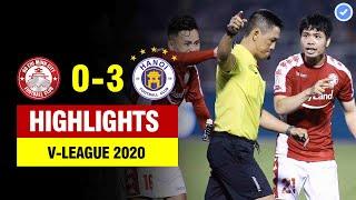 Highlights TP HCM 0-3 Hà Nội | Trọng tài chèn ép cay đắng - Công Phượng cùng đồng đội thua đau