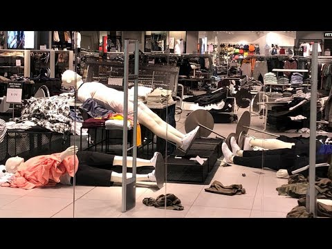 eff-destroying-&-vandalizing-h&m-menlyn---south-africa,-against-a-racist-'coolest-monkey'-sweater
