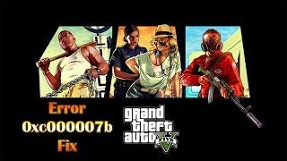 GTA V 0xc000007b Error Fix