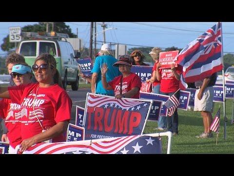 Sign Waving For Donald Trump in Hilo, Hawaii (Nov. 7, 2016)