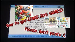"""(CFW REQUIRED)How to get """"Free 3DS Games"""" (No Free shop or CIAngel)"""