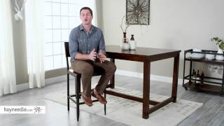 Belham Living Trenton Wood and Metal Counter Stool - Product Review Video