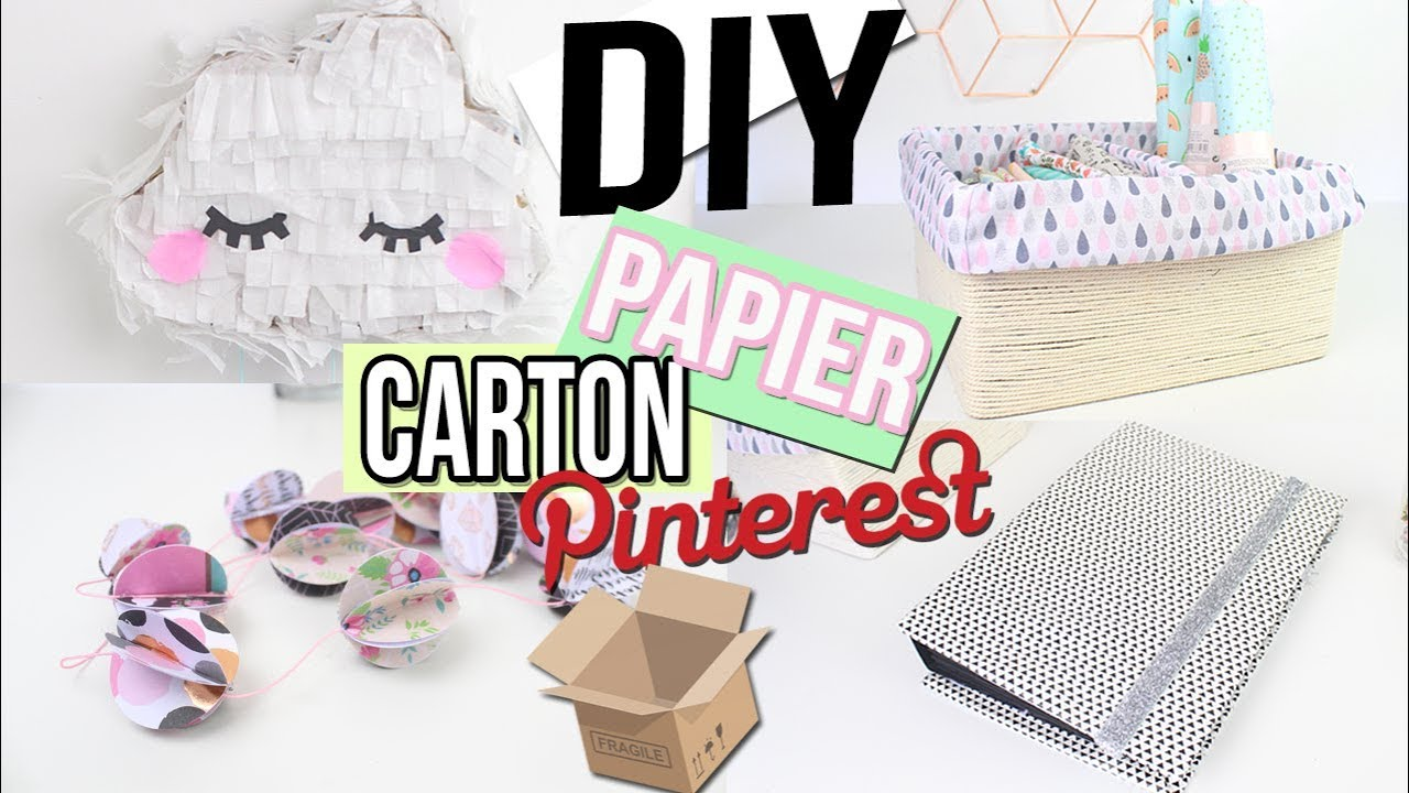 diy deco test pinterest avec du carton papier. Black Bedroom Furniture Sets. Home Design Ideas