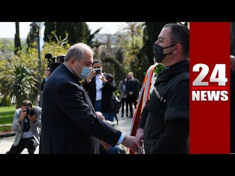 ՀՀ նախագահ Արմեն Սարգսյանն այցելել է Թբիլիսիի Հերոսների հրապարակ