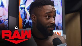 "Cedric Alexander ""Rapid Reaction"" to WWE Draft: Raw Exclusive, Oct. 14, 2019"