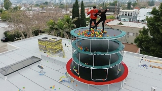 TRAMPOLINE TOWER WITH BALL PIT!