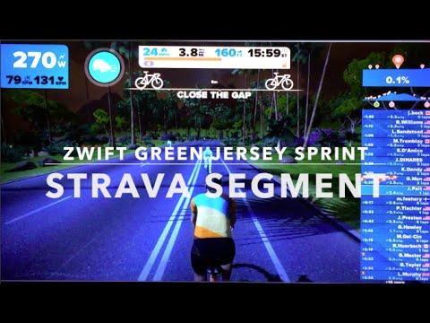 Strava Segment: Zwift Green Jersey Sprint