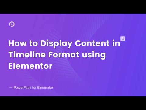 Elementor Timeline Widget - Create Timeline Content in Elementor