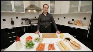видео урок хот-дог, hot dog, настоящий американский хот-дог, рецепт хот-дога