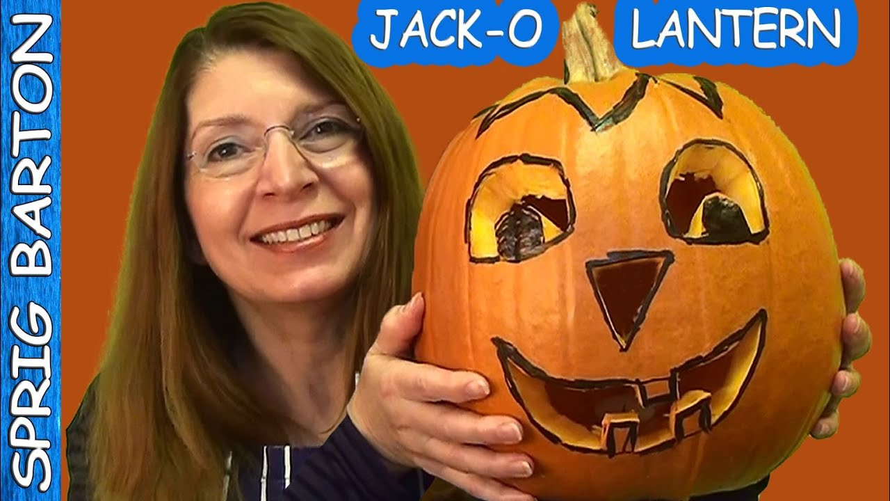 CARVE a HAPPY PUMPKIN 1950\'s METHOD ☆ RETRO JACK-O-LANTERN - YouTube