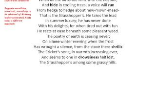 On The Grasshopper And The Cricket Keats
