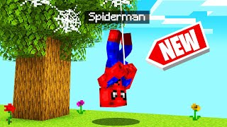 Playing MINECRAFT As SPIDERMAN! (Superhero)