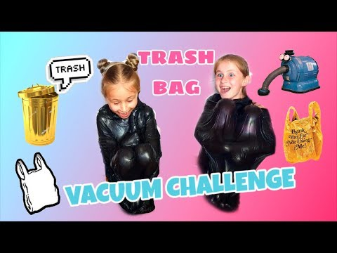 VACUUM CHALLENGE 🖤 ВАКУУМ ЧЕЛЛЕНДЖ ЗАСТРЯЛИ В ПАКЕТЕ🖤 TRASH BAG 🖤