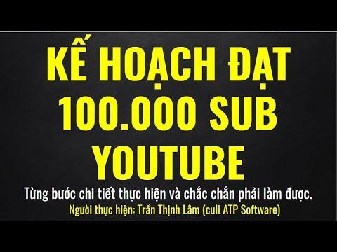 Kế Hoạch Xây Dựng Kênh Youtube Đạt 100.000 Sub Trong 6 Tháng – Chắn Chắn Phải Làm Được