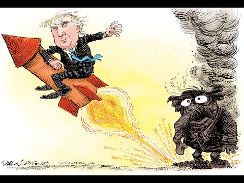 Donald Trump Burns the Republicans! Live Editorial Cartoon by Daryl Cagle