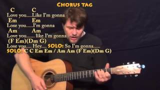 Like I'm Gonna Lose You (Meghan Trainor) Strum Guitar Cover Lesson with Chords/Lyrics