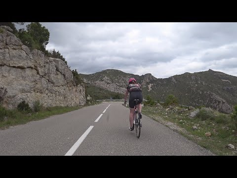 90 Minute Uphill Cycling Training Workout Mont Caro Spain Full HD