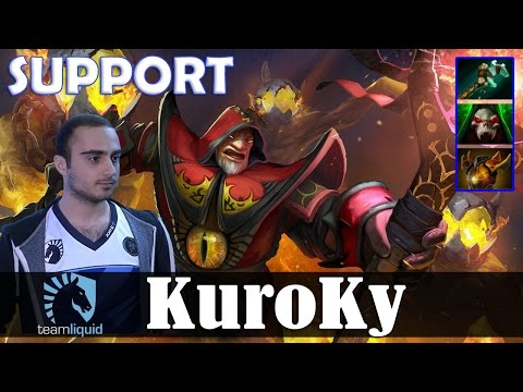 KuroKy - Warlock Safelane | SUPPORT | Dota 2 Pro MMR  Gameplay