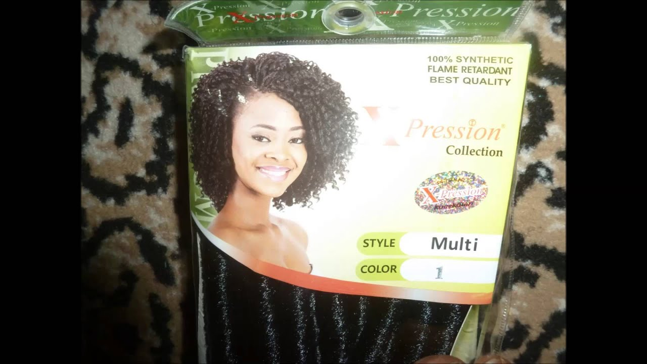 Curly Crochet Braids With Xpression Hair : Crotchet Braids using Expression Multi Hair - YouTube