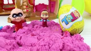 Masha Ve Süper Bebek Çek çek Evcilik Oynuyor Çizgi Filmler