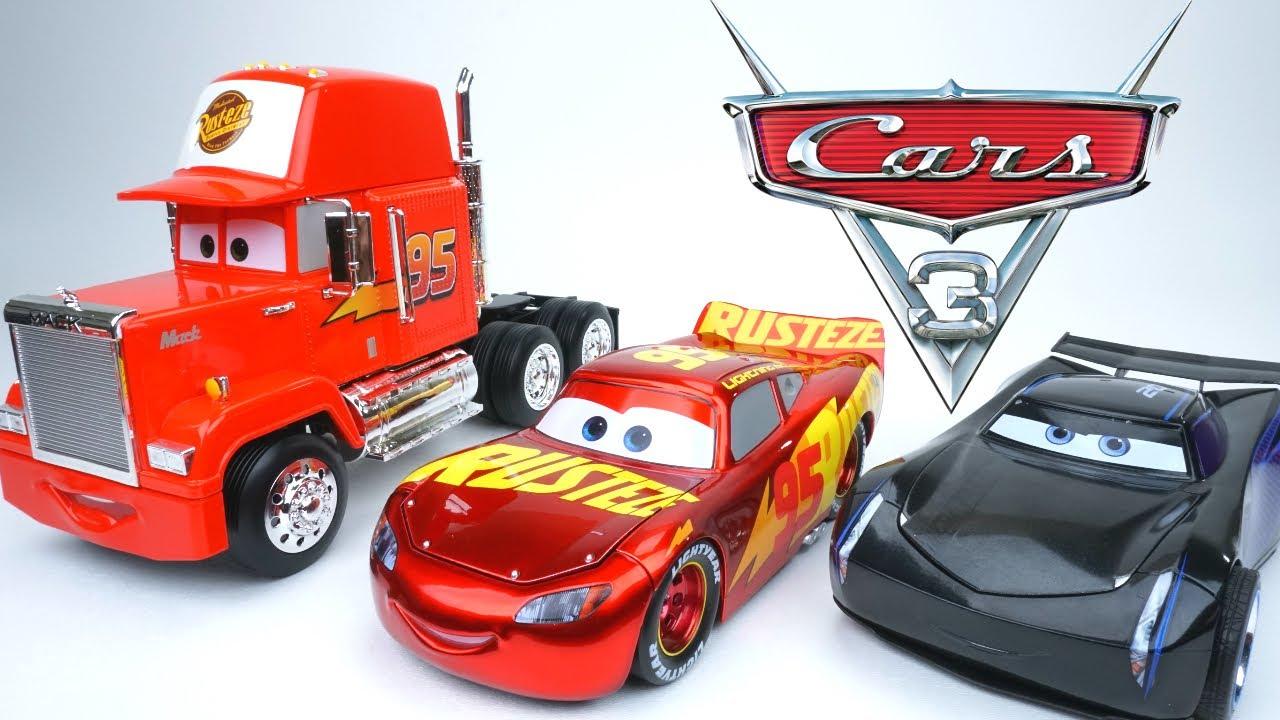 Disney Pixar Cars 3 Huge Diecast Mack Hauler Jackson Storm