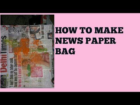 HOW TO MAKE NEWS PAPER BAG