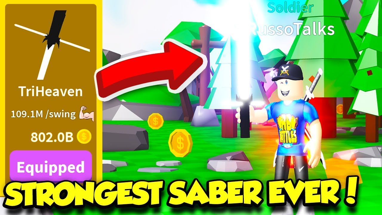 How To Auto Click In Roblox Saber Simulator I Got The Best Saber In Saber Simulator And Become The Strongest Player Ever Roblox Youtube