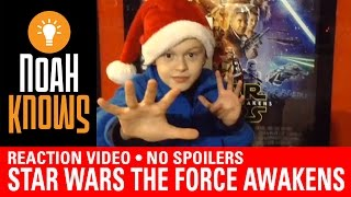Star Wars The Force Awakens - REACTION VIDEO - No spoilers