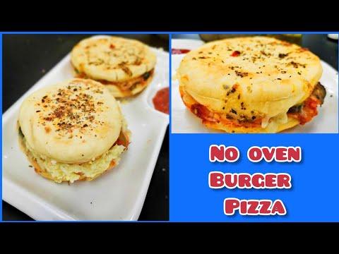 Burger Pizza | Make Domino's like burger pizza at home
